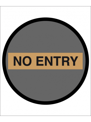 No Entry floor and wall floor graphic