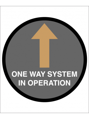 One Way System in operation floor graphic