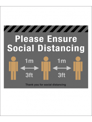 NEW 1METRE Please ensure social distancing floor graphic