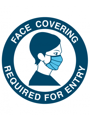 Face Covering required on Entry vinyl sticker