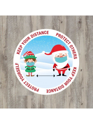 SD345_SD346 Christmas Keep Your Distance floor graphic