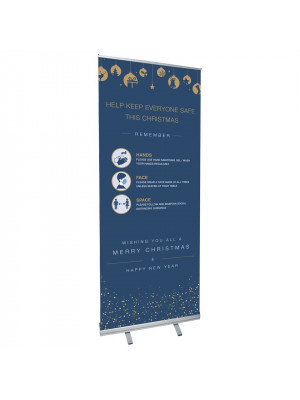 SD356 - Christmas Roller Banner - COVID19 - Hands-Face-Space