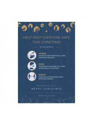 Christmas help keep safe poster