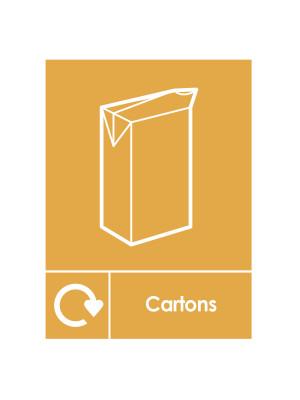 Cartons Recycling Bin Sticker - SE029