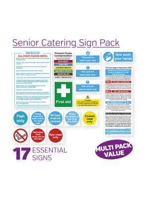 Senior Catering Sign Pack - SENPK