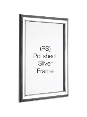 Polished Silver 25mm Profile Snap Poster Frames - Multiple Sizes