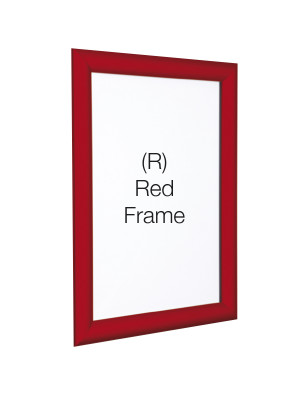 Red 25mm Profile Snap Poster Frames - Multiple Sizes