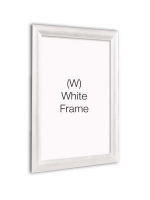 White 25mm Profile Snap Poster Frames - Multiple Sizes