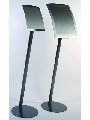 A4 & A3 Curved Satellite Freestanding Menu Holders - Multiple Options