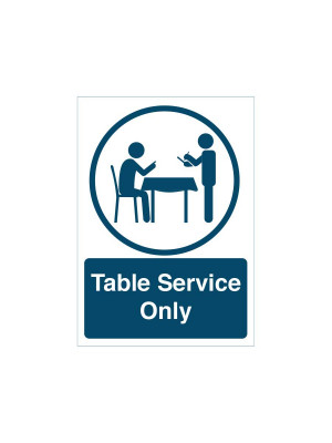 """""""Table Service Only"""" notice"""