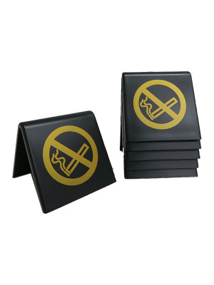 No Smoking Symbol Table Notices - TNBS - Multipack