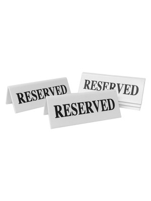 Reserved Table Notice - TTW01 - Multipack