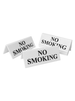 No Smoking Table Notice - TTW02 - Multipack