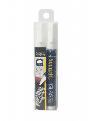 White Waterproof Chalk marker pens. 2-6mm Nib - Pack of 2 | AB170
