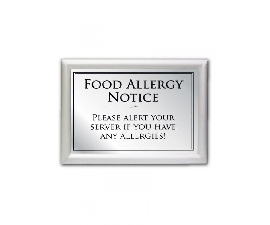 Food Allergy Bar Notice Frame Options Food Allergy