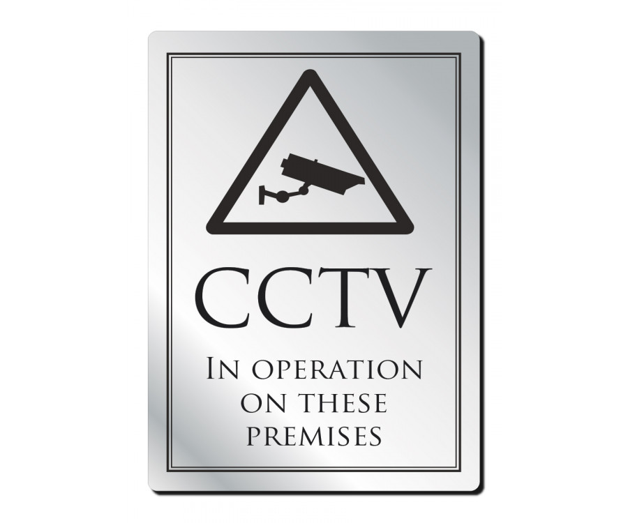 Cctv In Operation Notice Frame Options