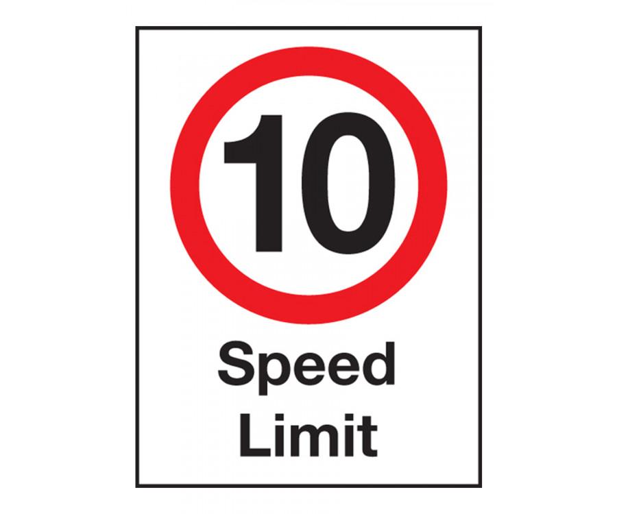 10 Mph Speed Limit Exterior Notice Mount Options Car