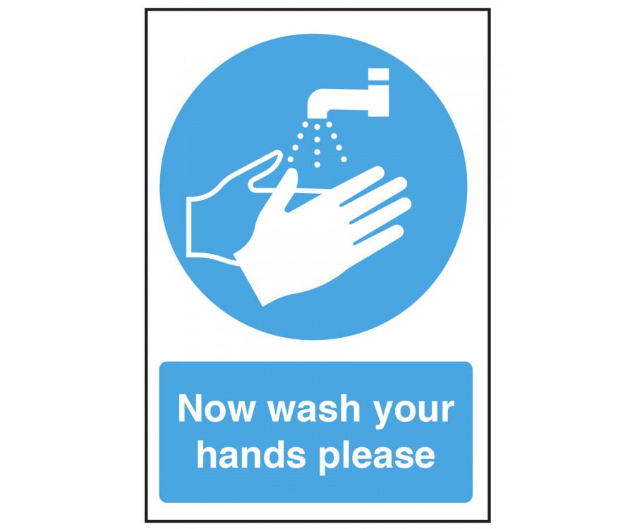 Now Wash Your Hands Please Notice Cs009 Staff Hygiene
