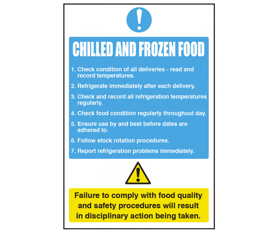 Chilled Amp Frozen Food Notice Cs095 Food Storage Amp Temp