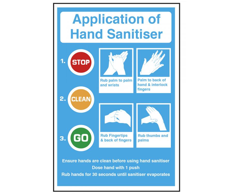 Application Of Hand Sanitiser Notice Cs121 Staff