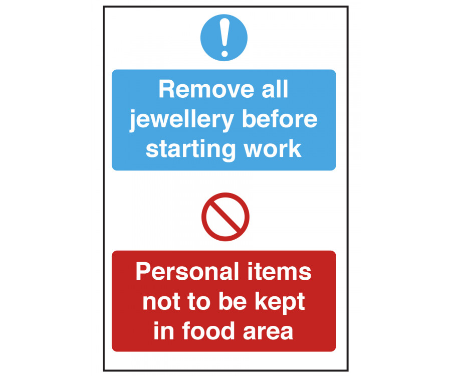 Remove All Jewellery And Personal Items Notice Cs155