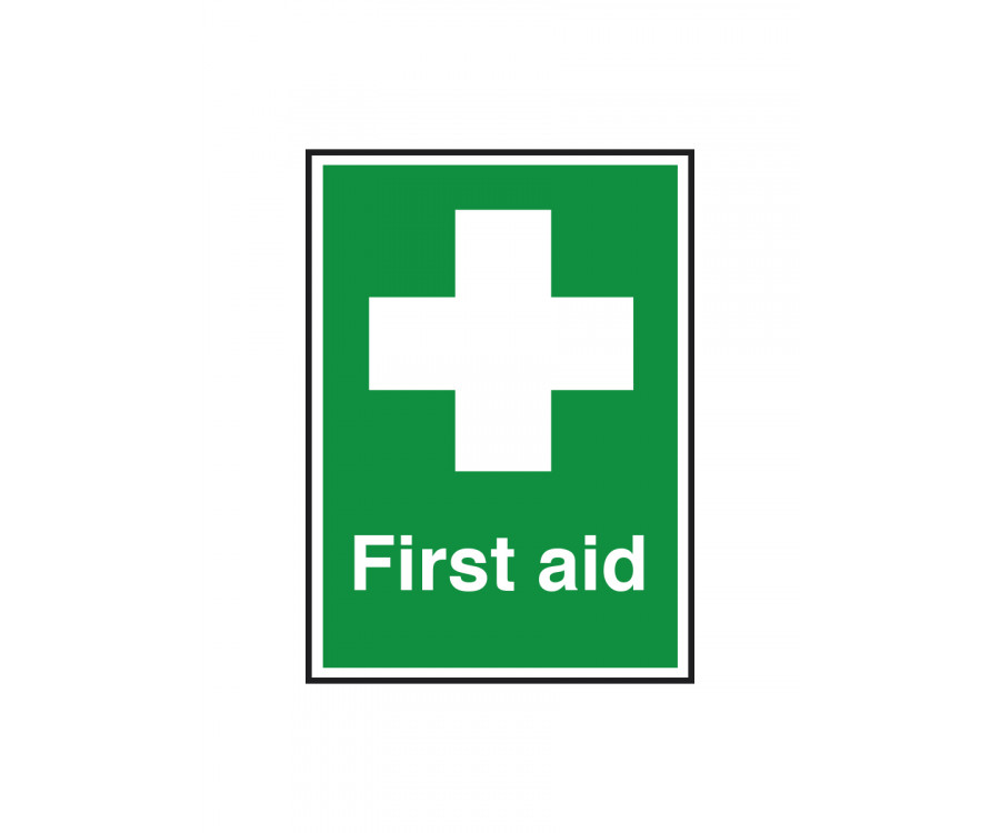 First Aid Text Amp Symbol Notice Fa006 First Aid Kits