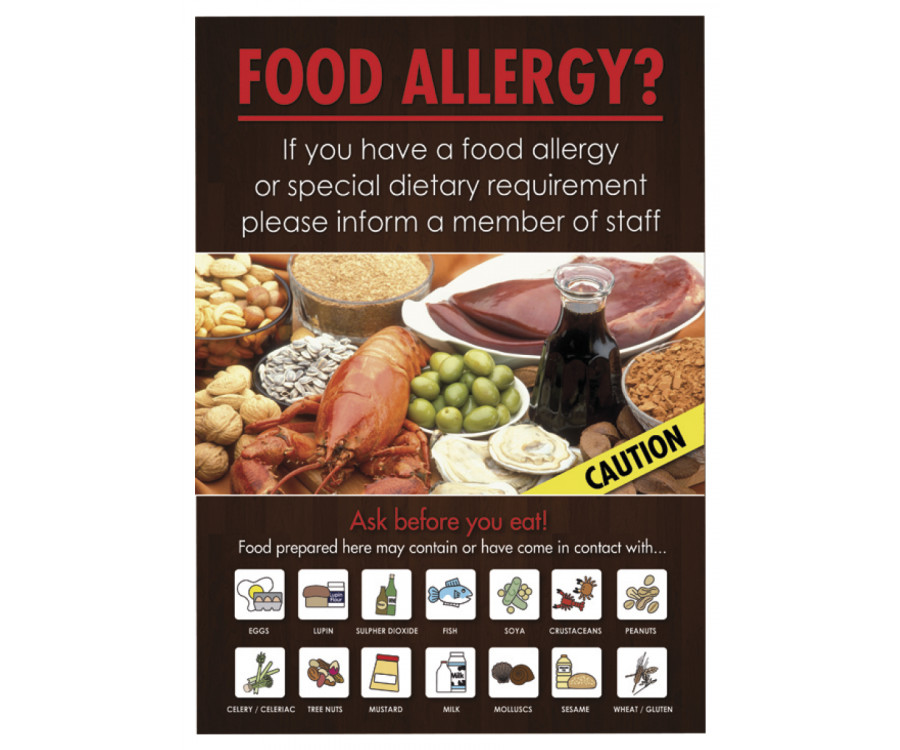 Customer Food Allergy Informing Notice Multiple Choices