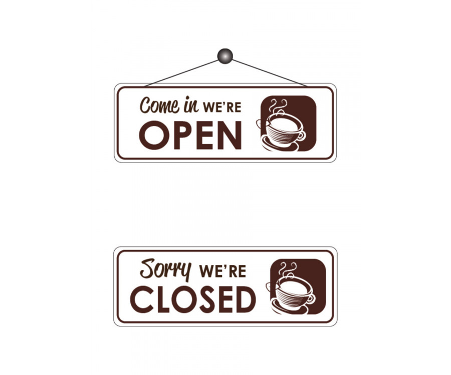 Cafe Open Amp Closed Notice Fd166 Caf 233 Amp Take Away