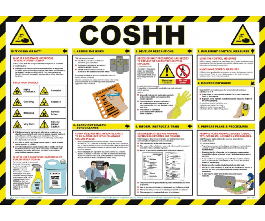 coshh poster hsp20 h s guidance posters fire. Black Bedroom Furniture Sets. Home Design Ideas