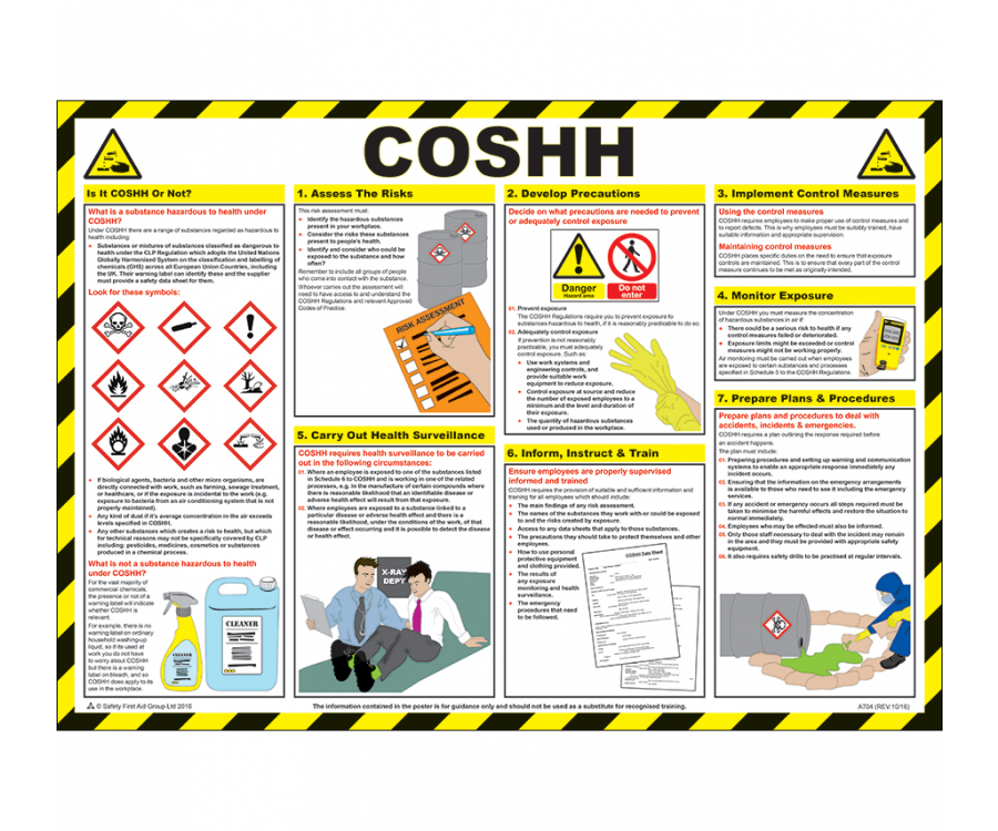 Coshh Poster Hsp20 H Amp S Guidance Posters Fire