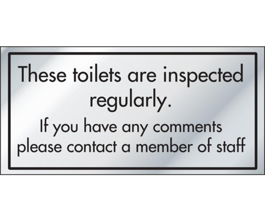 Toilet Inspection Information Door Sign - ID013