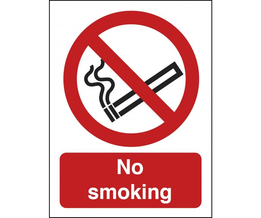 No Smoking Text And Symbol Sign