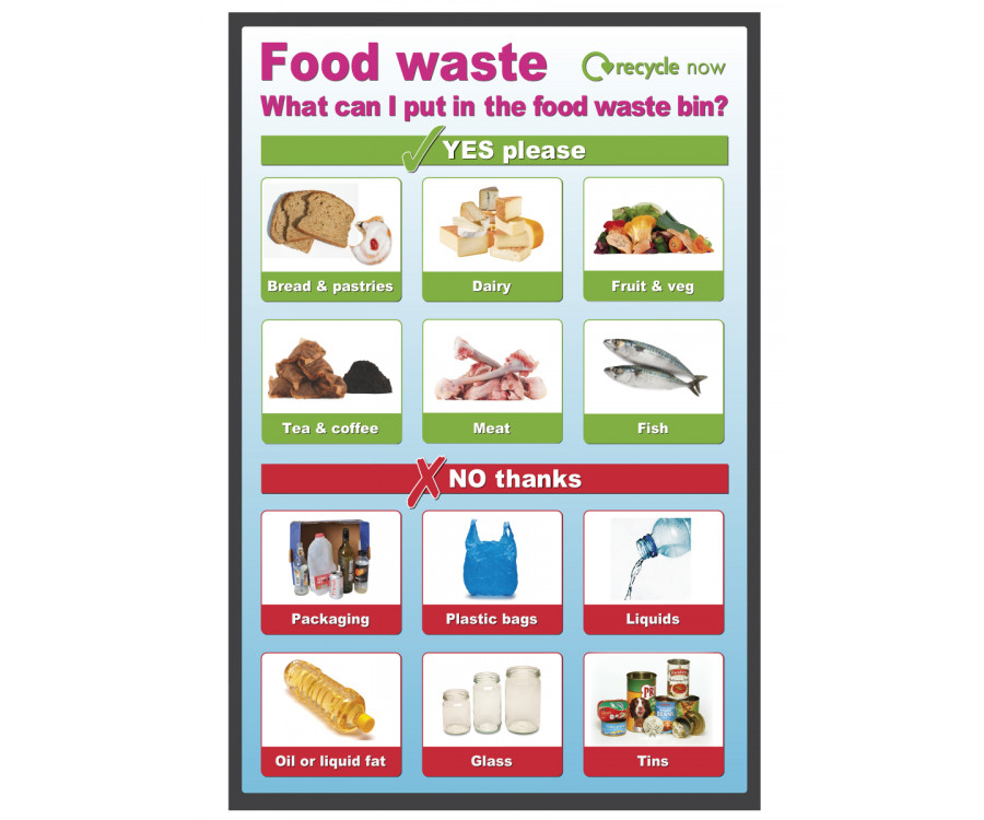 Food Waste Recycling Bin Sign Se030
