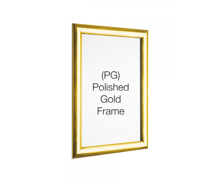 63647c5b1611 Polished Gold 25mm Profile Snap Poster Frames - Multiple Sizes - Snap  Poster Frames - Indoor Signs   Displays - Product Range