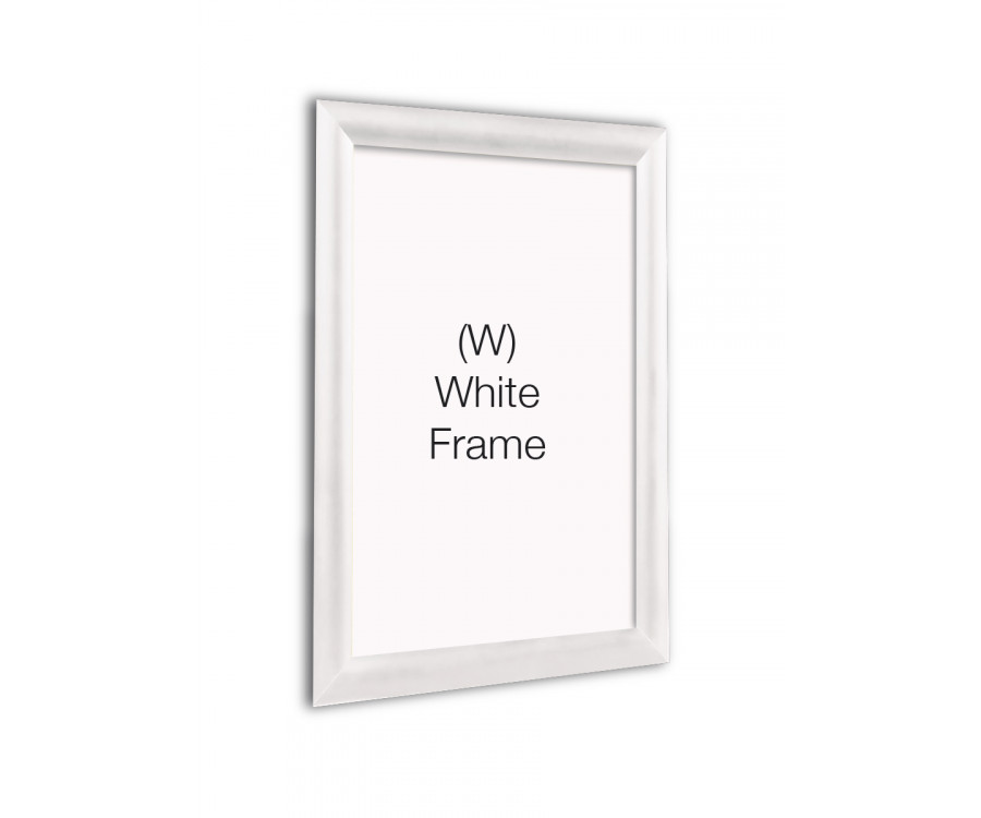 White 25mm Profile Snap Poster Frames - Multiple Sizes - Snap Poster ...