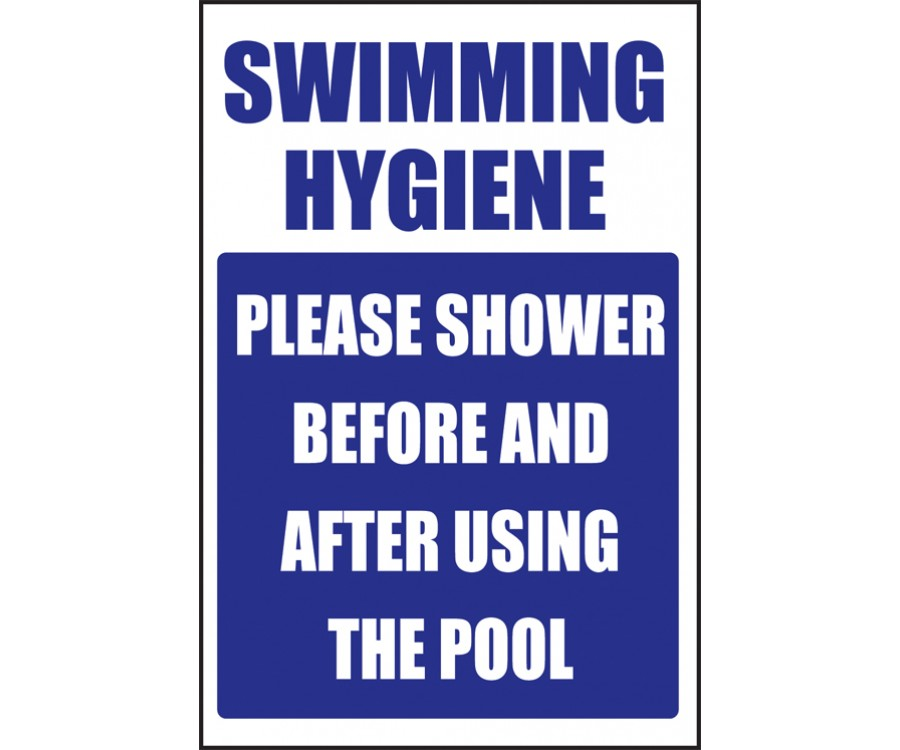 swimming hygiene swimming pool safety notice sps006