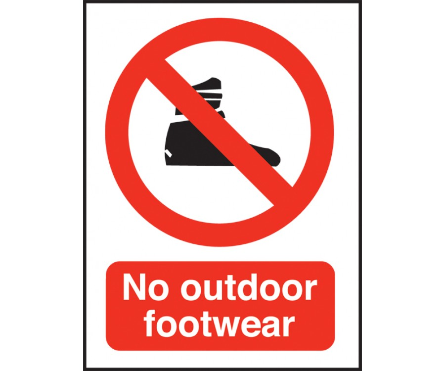 No Outdoor Footwear Swimming Pool Safety Notice Sps013