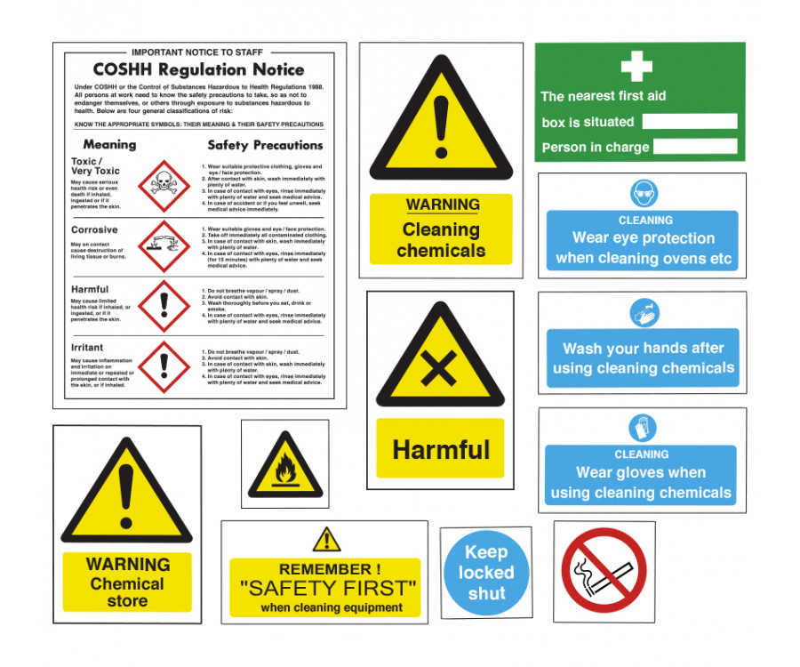 Safe Use Storage Of Chemicals Sign Pack Sucpk Equipment Safety