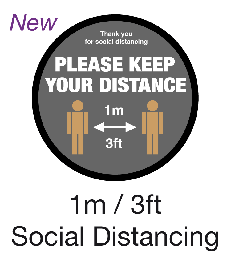 1 metre social distancing range
