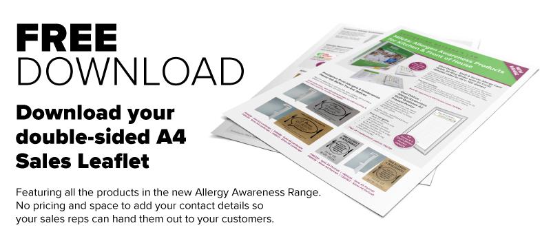 Allergy Range leaflet Download