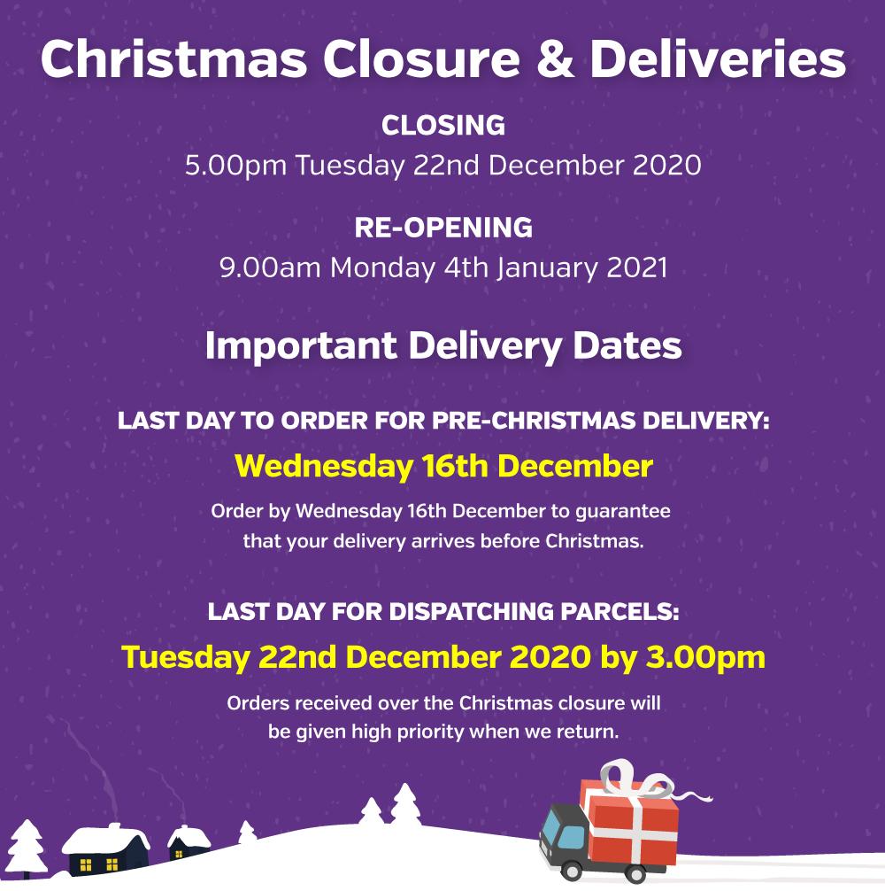 Christmas Closure Mobile Banner