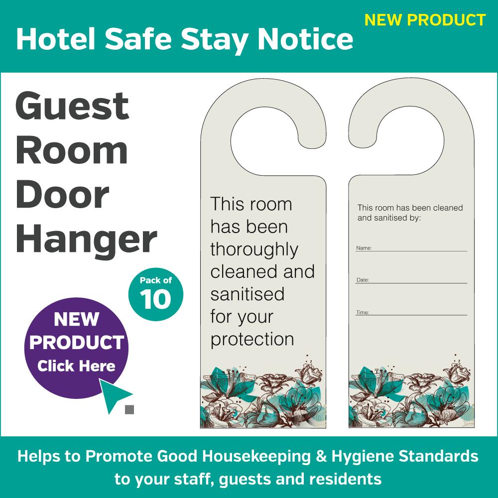DH011 - Sanitised Room Door Hanger