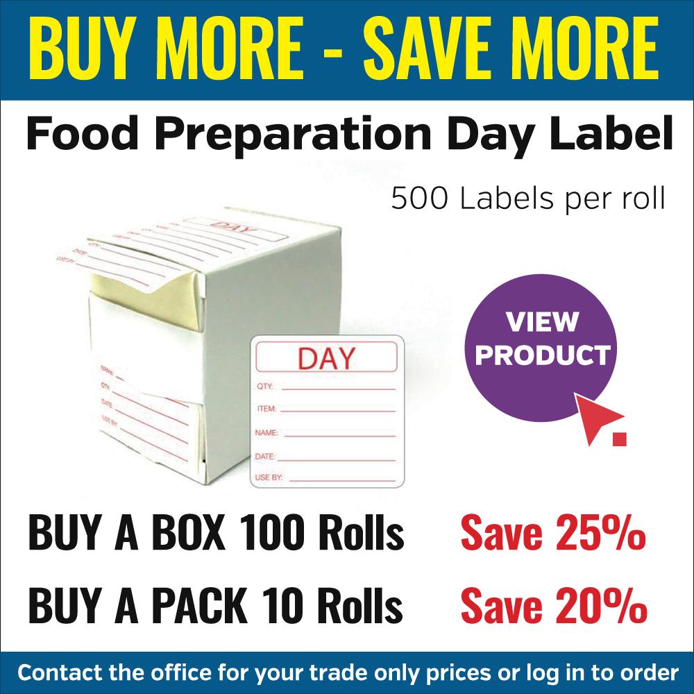 Food Prep labels offer