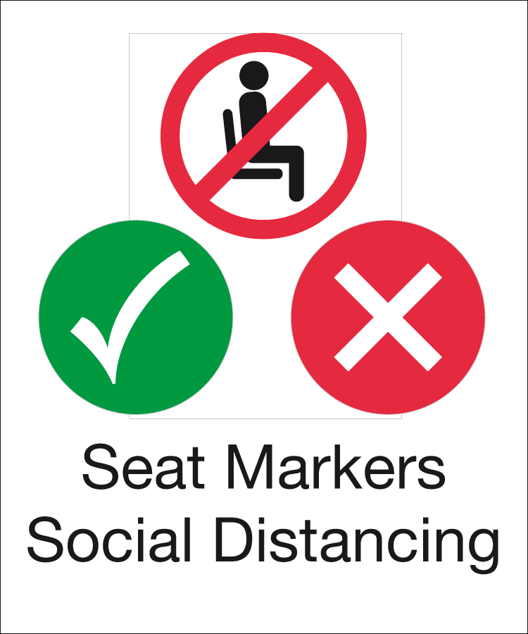 Seat Marker social distancing signs