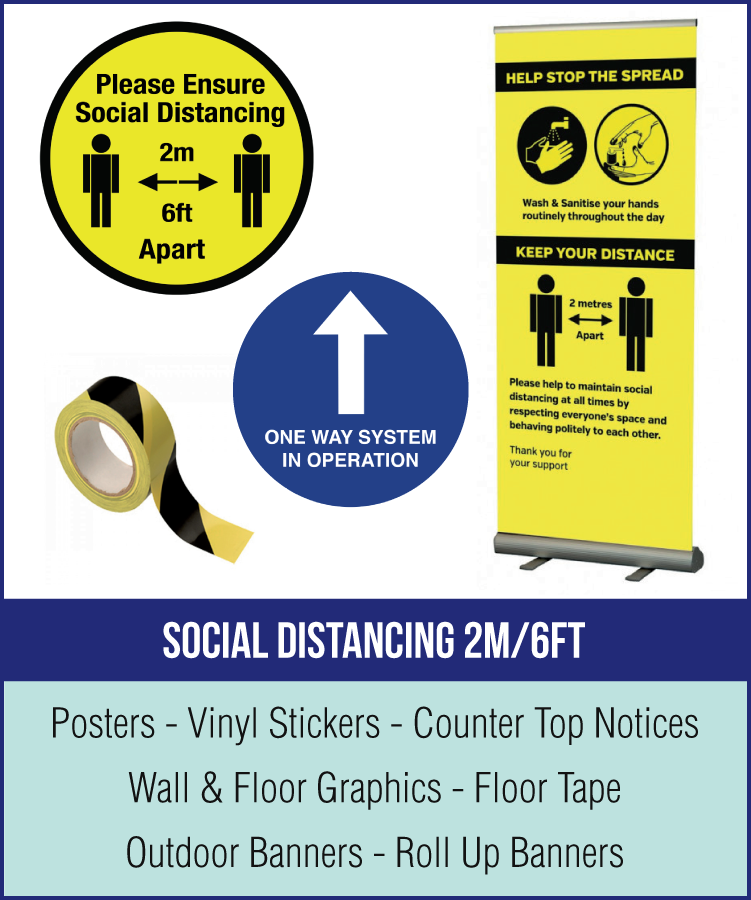 2metre social distancing range