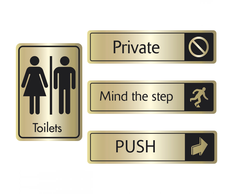 Black on Gold Door Signs