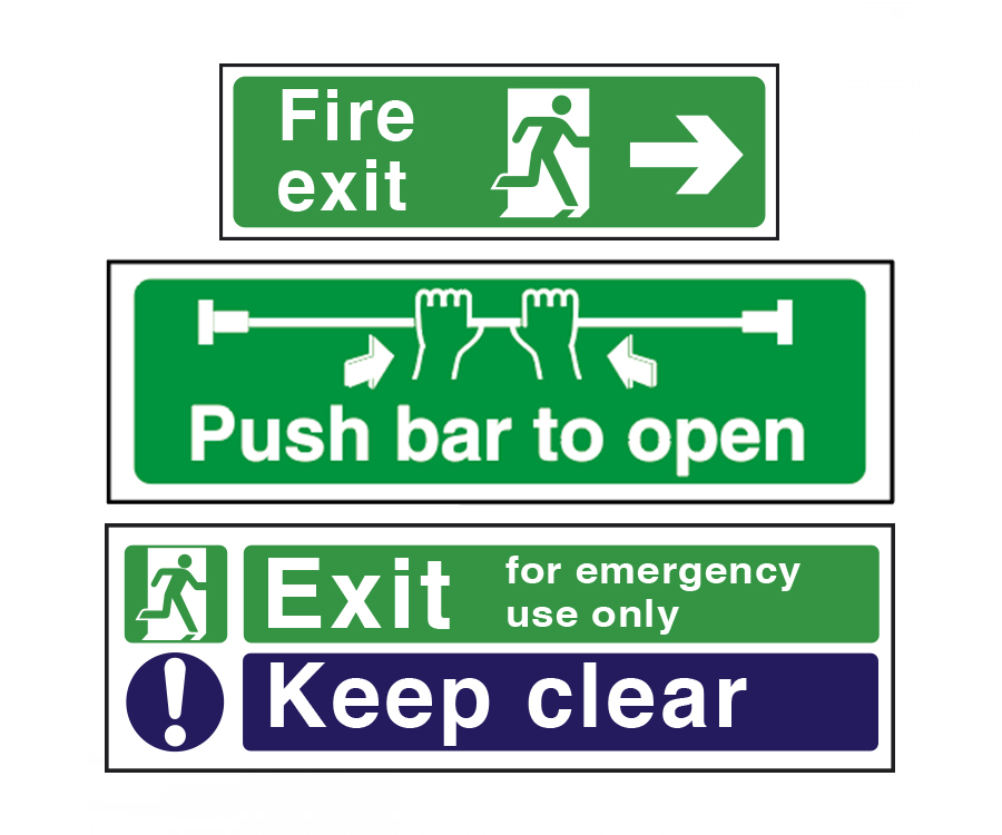 Fire  Exit & Escape Signs