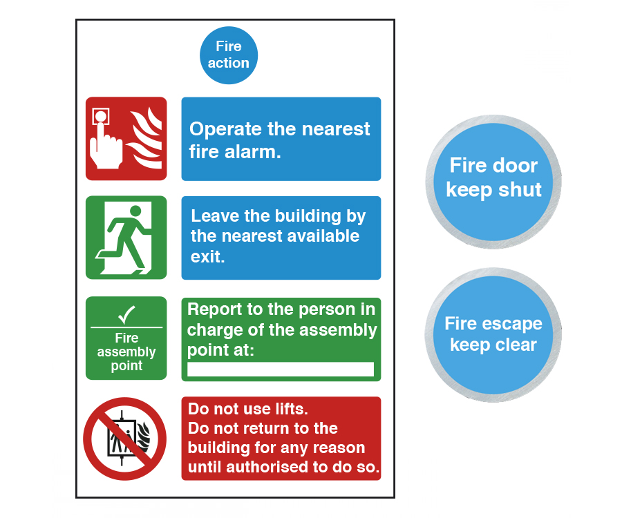 Fire Door & Fire Action Signs