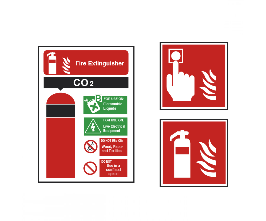 Fire Extinguisher & Equip Signs