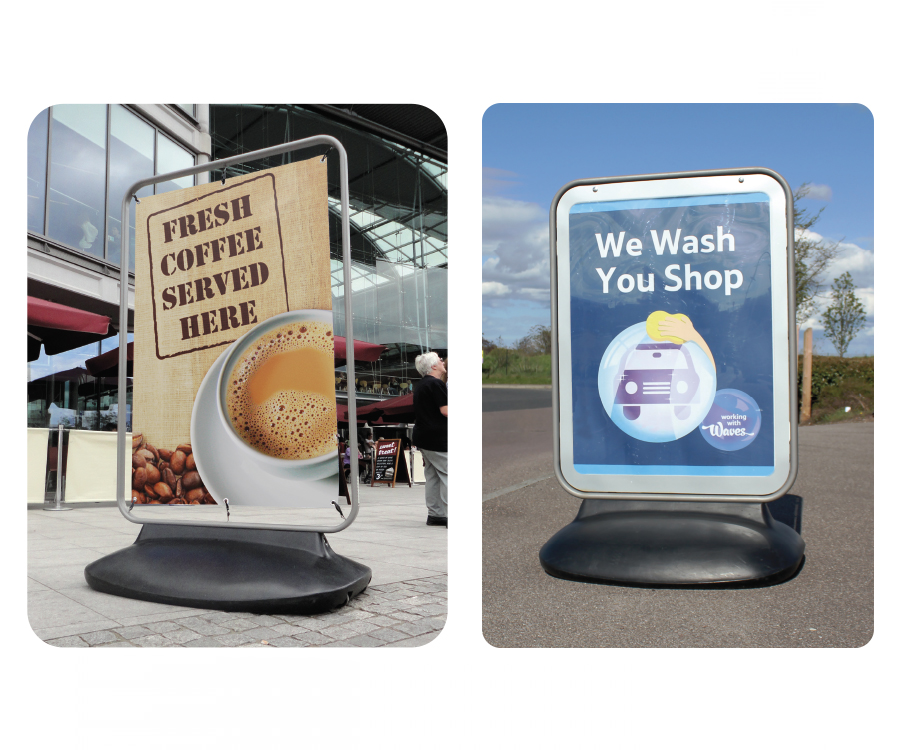 Large Forecourt Poster Displays